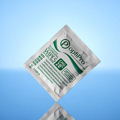 Toallitas con Alcohol 70% y Clorhexidina 2% Optipro™